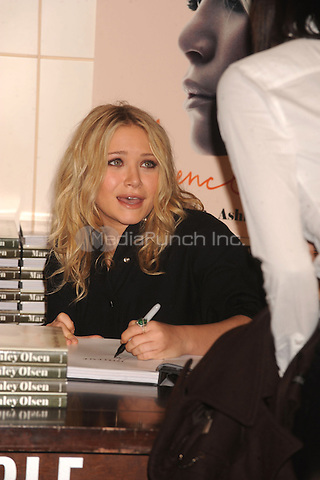 "Mary-Kate Olsen signs copies of ""Influence"" at Barnes & Noble Union Square in New York City. October 28, 2008. Credit: Dennis Van Tine/MediaPunch"