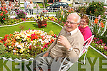 John McCarthy, with his wife Mary, Saint Brendan's Park, Tralee with his prize winning garden on Wednesday.