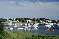 Cape Cod, Massachusetts.The neat and tidy harbor of Harwichport on Cape Cod's south shore.