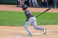 Quad Cities River Bandits outfielder Bryan De La Cruz (30) at bat during a Midwest League game against the Beloit Snappers on June 18, 2017 at Pohlman Field in Beloit, Wisconsin.  Quad Cities defeated Beloit 5-3. (Brad Krause/Four Seam Images)