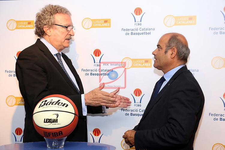 Joan Fa & Santi Siquier. Presentacion XXXIII Lliga Nacional Catalana ACB 2012.