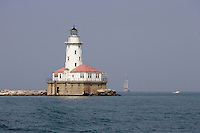 The light house by Navy Pier on Lake Michigan in Chicago, Illinois on August 5, 2008.