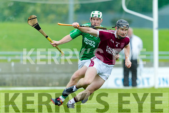 Padraig Boyle Ballyduff in action against  Bryan Murphy Causeway in the Hurling County Championship in Austin Stack Park on Sunday.