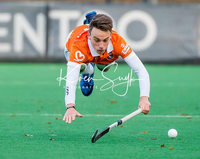 BLOEMENDAAL - Yannick van der Drift (Bldaal)  tijdens  hoofdklasse competitiewedstrijd  heren , Bloemendaal-Rotterdam (1-1) .COPYRIGHT KOEN SUYK