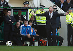 Ally McCoist yelling from the dugout