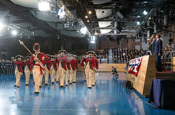 The Old Guard Fife and Drum Corp. preforms for United States President Barack Obama during his Armed Forces Full Honor Review Farewell Ceremony at Joint Base Myers-Henderson Hall, in Virginia on January 4, 2017. The five braces of the military honored the president and vice-president for their service as they conclude their final term in office. <br /> Credit: Kevin Dietsch / Pool via CNP /MediaPunch