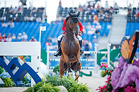 BEL-Pieter Devos rides Espoir during the Second Competition - Round 1. FEI World Team and Individual Jumping Championship. 2018 FEI World Equestrian Games Tryon. Thursday 20 September. Copyright Photo: Libby Law Photography