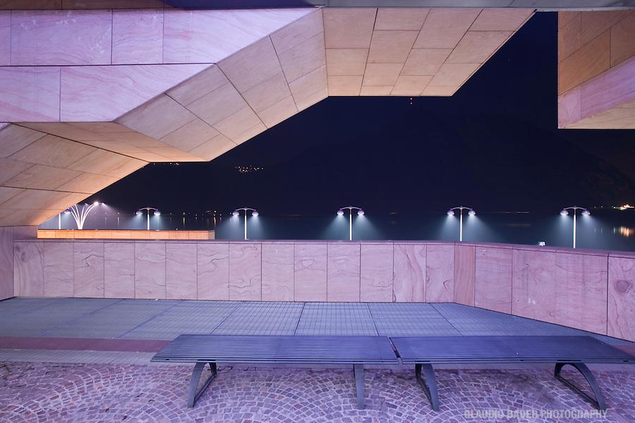 Lugano, Ticino, Paradiso, Night, Abend