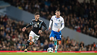 Manuel Lanzini (West Ham United) of Argentina & Jorginho (Napoli) of Italy during the International Friendly match between Argentina and Italy at the Etihad Stadium, Manchester, England on 23 March 2018. Photo by Andy Rowland.