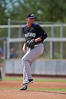 Colorado Rockies pitcher Trey Killian (70) during an instructional league game against the SK Wyverns on October 10, 2015 at the Salt River Fields at Talking Stick in Scottsdale, Arizona.  (Mike Janes/Four Seam Images)