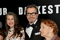 Gary Oldman, Gisele Schmidt &amp; Kathleen Oldman at the premiere for &quot;Darkest Hour&quot; at the Samuel Goldwyn Theatre at The Motion Picture Academy. Beverly Hills, USA 08 November  2017<br /> Picture: Paul Smith/Featureflash/SilverHub 0208 004 5359 sales@silverhubmedia.com