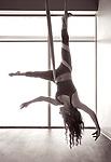 Aerial Yoga B&W