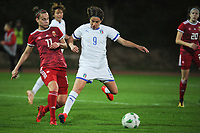 20190301 - LARNACA , CYPRUS : Italian forward Daniela Sabatino pictured during a women's soccer game between Hungary and Italy , on Friday 1 March 2019 at the GSZ Stadium in Larnaca , Cyprus . This is the second game in group B for both teams during the Cyprus Womens Cup 2019 , a prestigious women soccer tournament as a preparation on the FIFA Women's World Cup 2019 in France . PHOTO SPORTPIX.BE | STIJN AUDOOREN