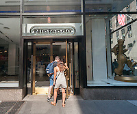 "The Nintendo New York store in Rockefeller Center in New York on Thursday, September 8, 2016. Nintendo shares rose 29% on the announcement that the game company will be bringing it Mario franchise to the iPhone, in the form of a new game, ""Super Mario Run"", and will be releasing a version of ""Pokemon Go"" for the Apple Watch.(© Richard B. Levine)"