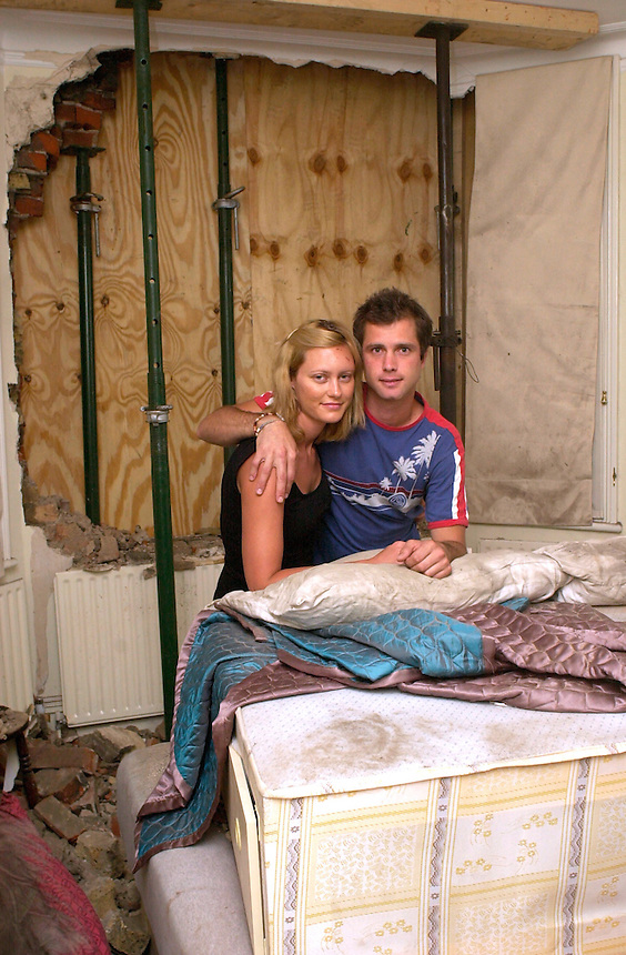 ANNALIESE HUYSER AND ADAM MELIS HAD A CAR COME THROUGH THEIR WINDOW AS THEY SLEPT IN WEST KENSINGTON. 7.7.06