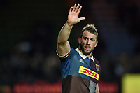 Chris Robshaw of Harlequins waves to the crowd after the match. Aviva Premiership match, between Harlequins and Wasps on April 28, 2017 at the Twickenham Stoop in London, England. Photo by: Patrick Khachfe / JMP