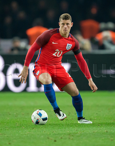 26.03.2016. Olympiastadion Berlin, Berlin, Germany.  England's Ross Barkley in action during the international friendly soccer match between Germany and England at the Olympiastadion