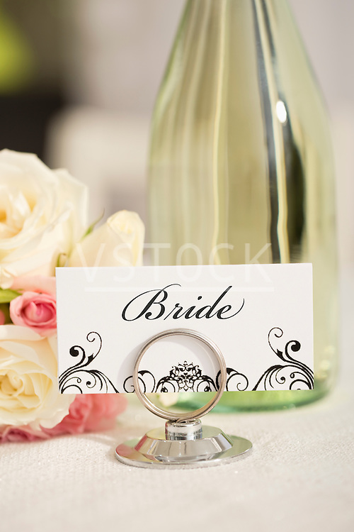 Bride's place setting card