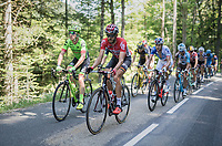 Simon Clarke (AUS/Cannondale-Drapac) &amp;  Jelle Vanendert (BEL/Lotto-Soudal) set the pace in the breakaway group<br /> <br /> stage 7: Aoste &gt; Alpe d'Huez (168km)<br /> 69th Crit&eacute;rium du Dauphin&eacute; 2017
