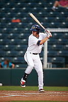 Fort Myers Miracle second baseman Ryan Walker (7) at bat during a game against the Brevard County Manatees on April 13, 2016 at Hammond Stadium in Fort Myers, Florida.  Fort Myers defeated Brevard County 3-0.  (Mike Janes/Four Seam Images)