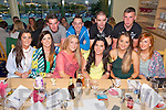 Enjoying a farewell diner at the Kerry General Hospital Benefit Meeting in the Kingdom Greyhound Stadium on Friday Vincent Locke, Megan Kelleher and Teresa Lee from Tralee emigrating to Canada Pictured front l-r Nicola Hanlon, Salome McDonnell, Teresa Lee, Megan Kelleher, Mary Ellen Donovan, Kirsty O'Dowd, Back l-r John O'Brien, Vincent Locke, Neil Hobbart, Chris Hegarty.