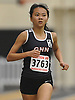Samantha Law of Great Neck North stays at the front in the girls 1,500 meter run during a Nassau County indoor track and field meet at St. Anthony's High School on Wednesday, Nov. 30, 2016. She won the event.
