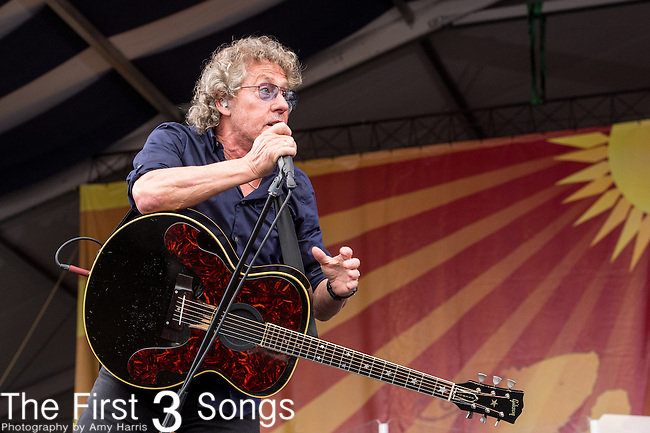 Roger Daltrey of The Who performs during the 2015 New Orleans Jazz & Heritage Festival in New Orleans, Louisiana.