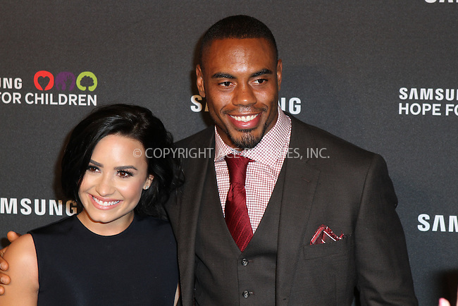 WWW.ACEPIXS.COM<br /> <br /> September 17 2015, New York City<br /> <br /> Singer Demi Lovato and Rashad Jennings attends the Samsung Hope for Children Gala 2015 at Hammerstein Ballroom on September 17, 2015 in New York City<br /> <br /> <br /> By Line: Nancy Rivera/ACE Pictures<br /> <br /> <br /> ACE Pictures, Inc.<br /> tel: 646 769 0430<br /> Email: info@acepixs.com<br /> www.acepixs.com