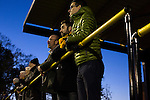 Home supporters watching the action during the second-half at Lye Meadow as Alvechurch hosted Highgate United in a Midland Football League premier division match. Originally founded in 1929 and reformed in 1996 after going bust, the club has plans to move from their current historic ground to a new purpose-built stadium in time for the 2017-18 season. Alvechurch won this particular match by 3-0, watched by 178 spectators, taking them back to the top of the league.