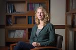 Graduate student, Babz Jewell, of Ohio University's Sociology Department poses in Bentley Annex on October 12, 2016.