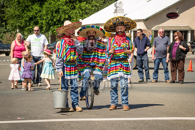 137th annual Ione Homecoming Parade, Rancheros and Sombreros theme, downtown Main St., Ione, Calif..