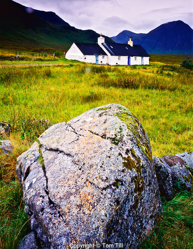 Cottage in the Highlands, near Glencoe, Scotland, United Kingdom