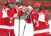 Jordan Juron (BU - 27), Caroline Campbell (BU - 16) - The Harvard University Crimson defeated the visiting Boston University Terriers 3-1 on Friday, November 22, 2013, at Bright-Landry Hockey Center in Cambridge, Massachusetts.