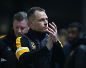 5th February 2019, Rodney Parade, Newport, Wales; FA Cup football, 4th round replay, Newport County versus Middlesbrough; Michael Flynn, Manager of Newport County applauds fans before the game