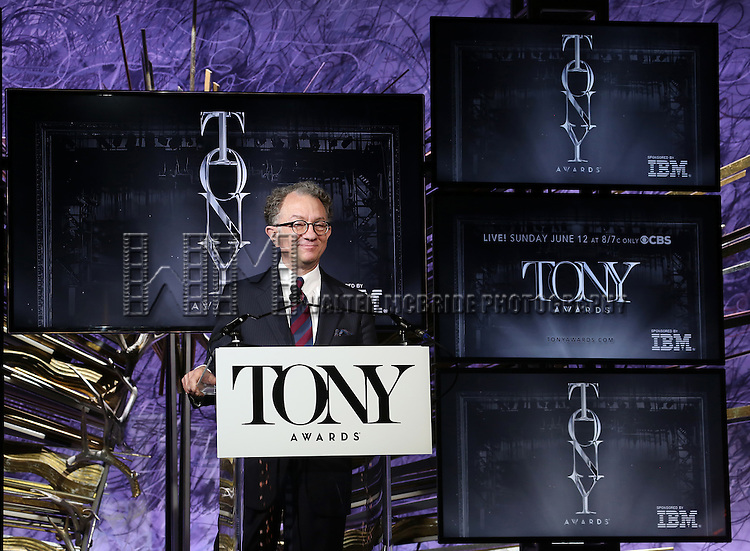 William Ivey Long during the American Theatre Wing's 70th Annual Tony Awards Nominations at Diamond Horseshoe at the Paramount Hotel on May 3, 2016 in New York City.