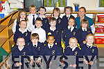 Junior Infants at Blennerville National School on Tuesday..Front Row from Left: Conor Daly, Daniel Sheehy, Fionn Dairo, Fionn O Brien, Faye OConnor..Middle Row from Left: William ODonoghue, Sean Whelan, Eddie Stack, lily O Sullivan, Kelly Fitzgerald..Back Row from Left: Sadhbh Horgan, Harrison Mason, Rory Kelliher, Mark OBrien, Millie OBrien, Miss Edel Coen..