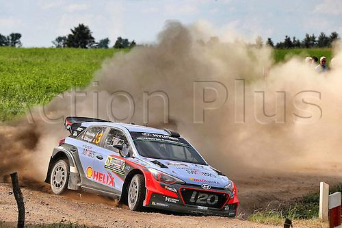 02.07.2016. Mikolajki, Poland. WRC Rally of Poland, stages 12-17.  Thierry Neuville (BEL) and Nicolas Gilsoul (BEL) - Hyundai i20 WRC