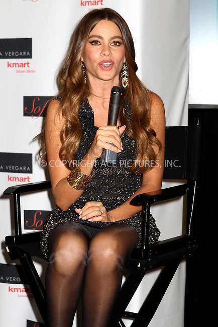 WWW.ACEPIXS.COM....September 27 2012, New York City....Actress Sofia Vergara celebrating her fall fashion and home collection for Kmart at the company's New York City Astor Place location on September 27, 2012 in New York City....By Line: Nancy Rivera/ACE Pictures......ACE Pictures, Inc...tel: 646 769 0430..Email: info@acepixs.com..www.acepixs.com