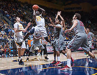 Jabari Bird of California shoots for the basket during a game against Washington State at Haas Pavilion in Berkeley, California on January 5th, 2014. California defeated Washington State 76 - 55