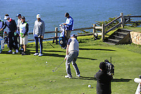 Former ice hockey star Wayne Gretzky (CAN) on the 7th tee at Pebble Beach Golf Links during Saturday's Round 3 of the 2017 AT&amp;T Pebble Beach Pro-Am held over 3 courses, Pebble Beach, Spyglass Hill and Monterey Penninsula Country Club, Monterey, California, USA. 11th February 2017.<br /> Picture: Eoin Clarke | Golffile<br /> <br /> <br /> All photos usage must carry mandatory copyright credit (&copy; Golffile | Eoin Clarke)