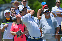 Joaquin Niemann (CHL) watches his tee shot on 1 during round 2 of the AT&amp;T Byron Nelson, Trinity Forest Golf Club, at Dallas, Texas, USA. 5/18/2018.<br /> Picture: Golffile | Ken Murray<br /> <br /> <br /> All photo usage must carry mandatory copyright credit (&copy; Golffile | Ken Murray)