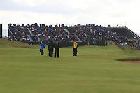 Lucas Bjerregaard (DEN) playing into the 12th during 1st round of the 148th Open Championship, Royal Portrush golf club, Portrush, Antrim, Northern Ireland. 18/07/2019.<br /> Picture Thos Caffrey / Golffile.ie<br /> <br /> All photo usage must carry mandatory copyright credit (© Golffile | Thos Caffrey)