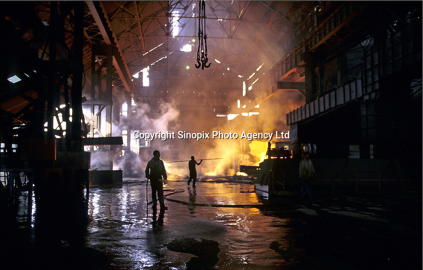 A blast furnace in Benxi Iron and Steel Group in Liaoning. China's second-largest steelmaker Anshan Iron & Steel Group has merged with smaller rival Benxi Steel Group to create a company with capacity that will match the mainland's biggest steelmaker, Shanghai Baosteel Group..22 Aug 2005