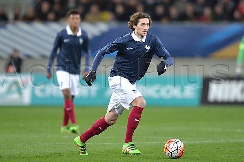 28.03.2016. Stade LeMans,  Le Mans, France, U-21 2017 Euros qualification. France versus Macedonia.   ADRIEN RABIOT