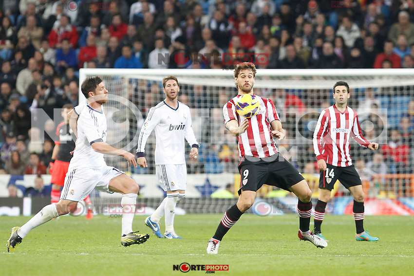 Real Madrid CF vs Athletic Club de Bilbao (5-1) at Santiago Bernabeu stadium. The picture shows Fernando Llorente. November 17, 2012. (ALTERPHOTOS/Caro Marin) NortePhoto