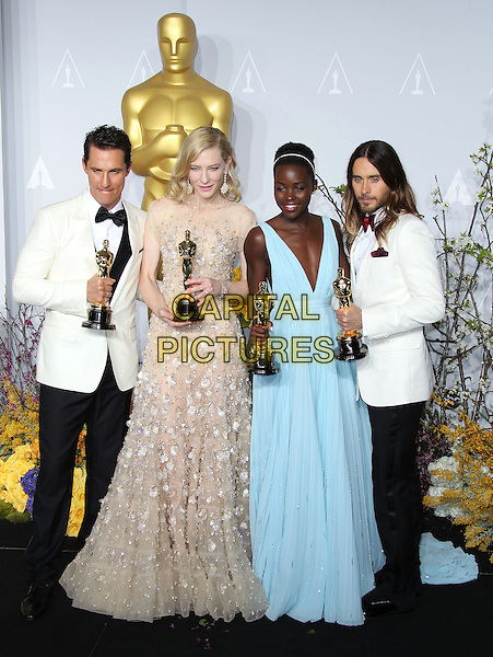 02 March 2014 - Hollywood, California - Matthew McConaughey, Cate Blanchett, Lupita Nyong'o, Jared Leto . 86th Annual Academy Awards held at the Dolby Theatre at Hollywood &amp; Highland Center. <br /> <br /> CAP/ADM/RE<br /> &copy;Russ Elliot/AdMedia/Capital Pictures
