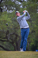 Chesson Hadley (USA) watches his tee shot on 2 during Round 3 of the Valero Texas Open, AT&amp;T Oaks Course, TPC San Antonio, San Antonio, Texas, USA. 4/21/2018.<br /> Picture: Golffile | Ken Murray<br /> <br /> <br /> All photo usage must carry mandatory copyright credit (&copy; Golffile | Ken Murray)