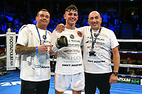 Sam Noakes (white shorts) defeats Chris Adaway during a Boxing Show at the Royal Albert Hall on 27th September 2019