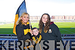Dr Crokes fans, Martina, Conor and Shannon O'Shea (Killarney) pictured at the All Ireland semi-final on Saturday in Portlaoise.