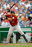 11 July 2008: Houston Astros' left fielder Carlos Lee in action against the Washington Nationals at Nationals Park in Washington, DC. The Nationals shut out the Astros 10-0 in the first game of their 3-game series...Mandatory Photo Credit: Ed Wolfstein Photo